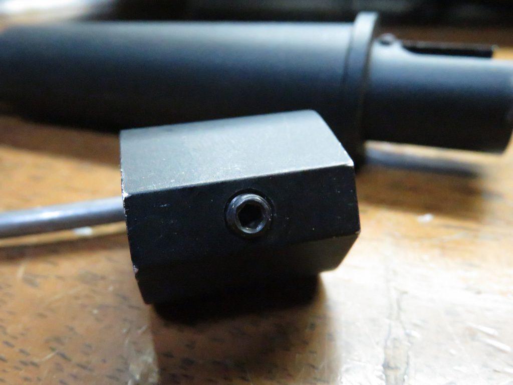 DYTAC 7.5インチ SBRアウターバレル ガスブロックの固定ネジ