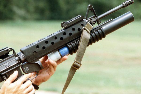 M16とM203 グレネードランチャー