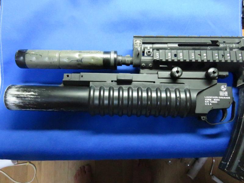 D-boys M203 MP5A4装着例