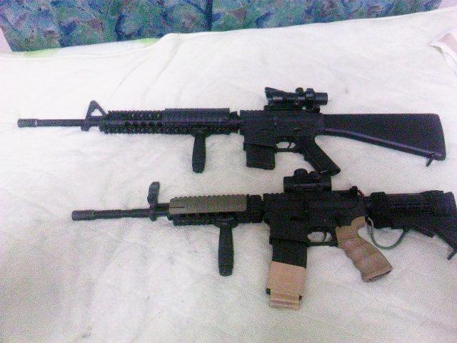 M16A4とM4
