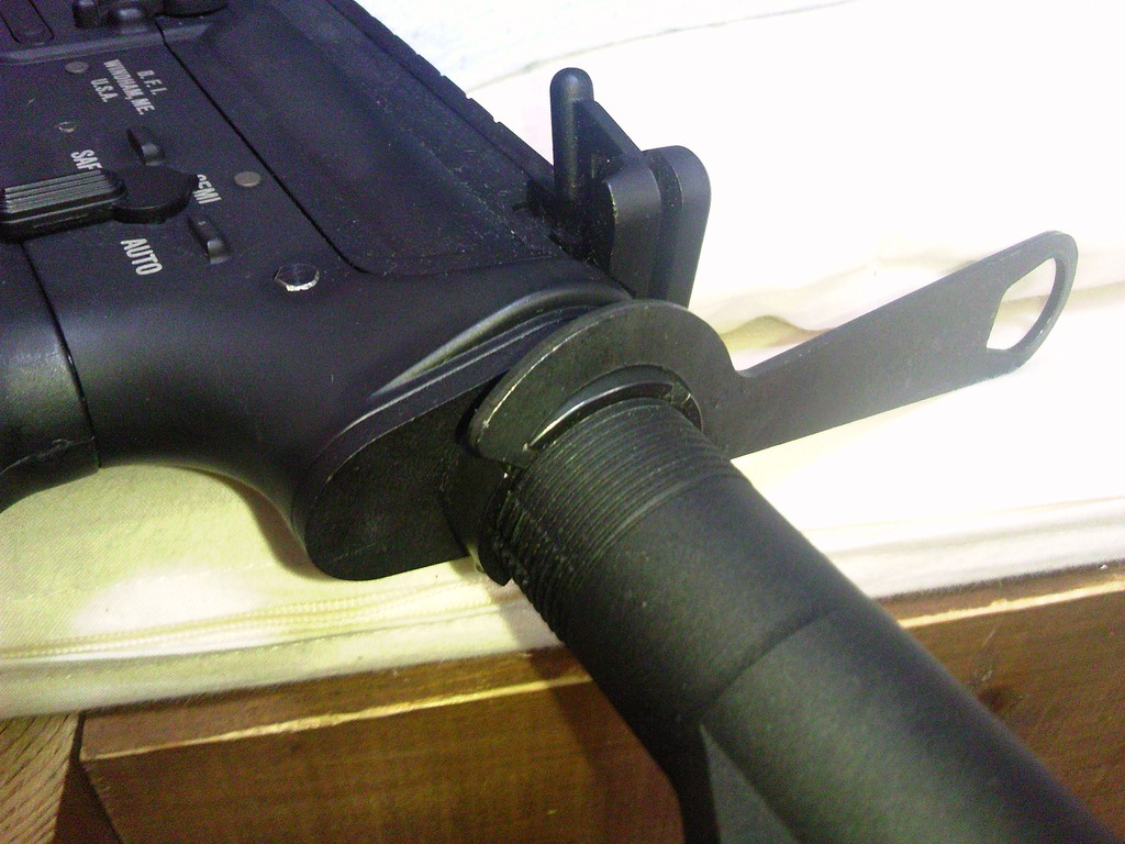 M4A1 ストックパイプリング取り付け
