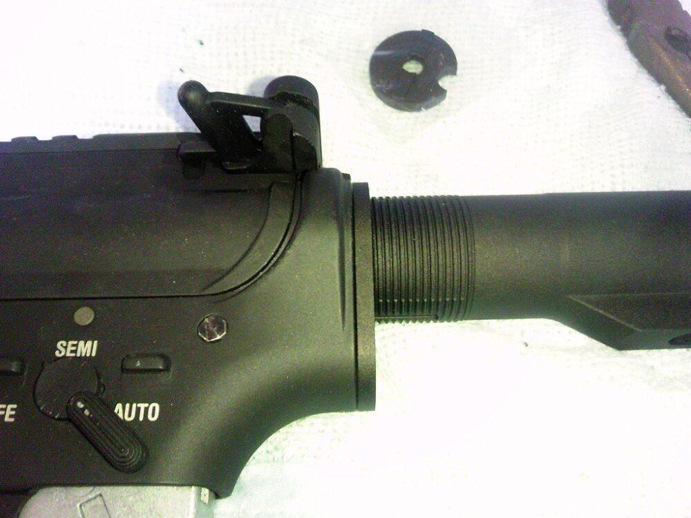 M4A1 ストックパイプ取り付け