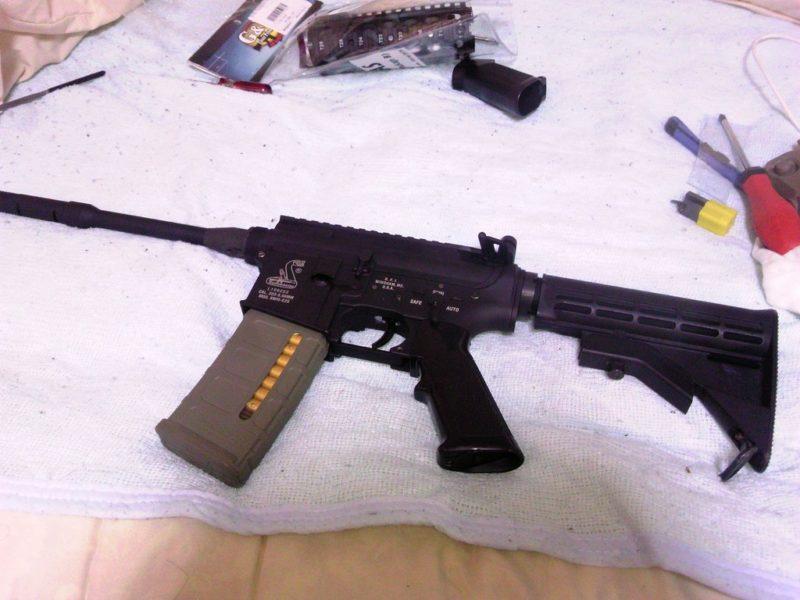 M4A1 ストック取り付け完了