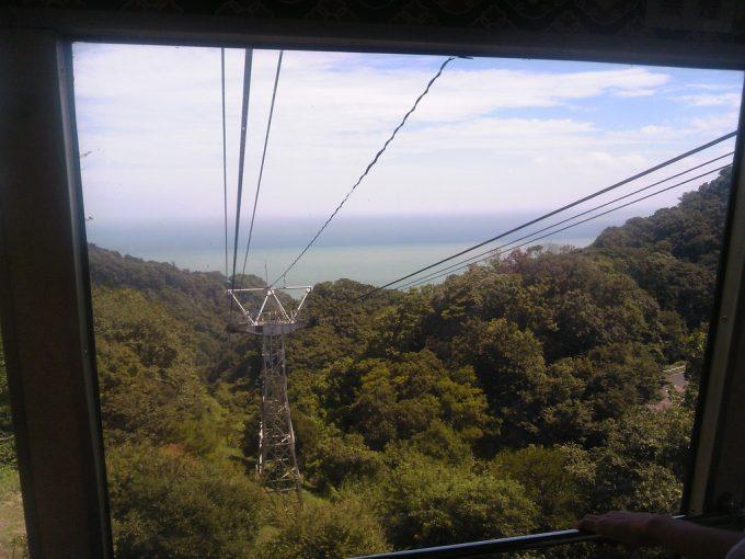 静岡 日本平ロープウェイ ロープウェイからの眺め