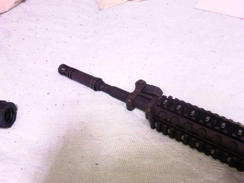 5KU SUREFIRE CA556 AR203タイプ ハイダー&サプレッサー 取り付け