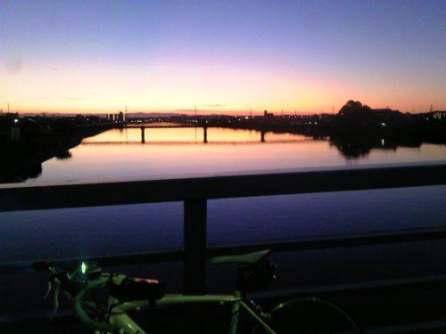 早朝サイクリング 2015年09月12日