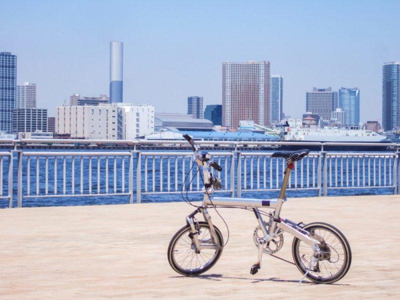 ミニベロタイプの自転車