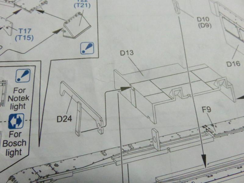 オストヴィント 説明書 車体下部内装
