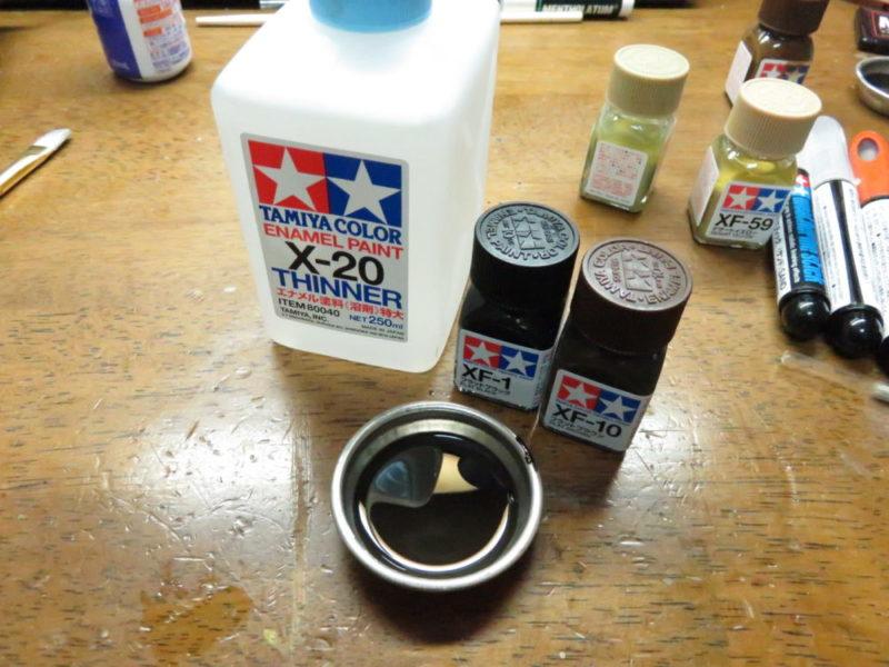 アクリル塗料と溶剤