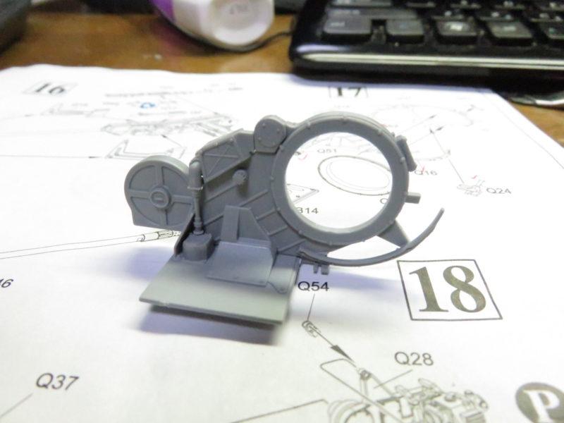 オストヴィント 砲座 組み立て11