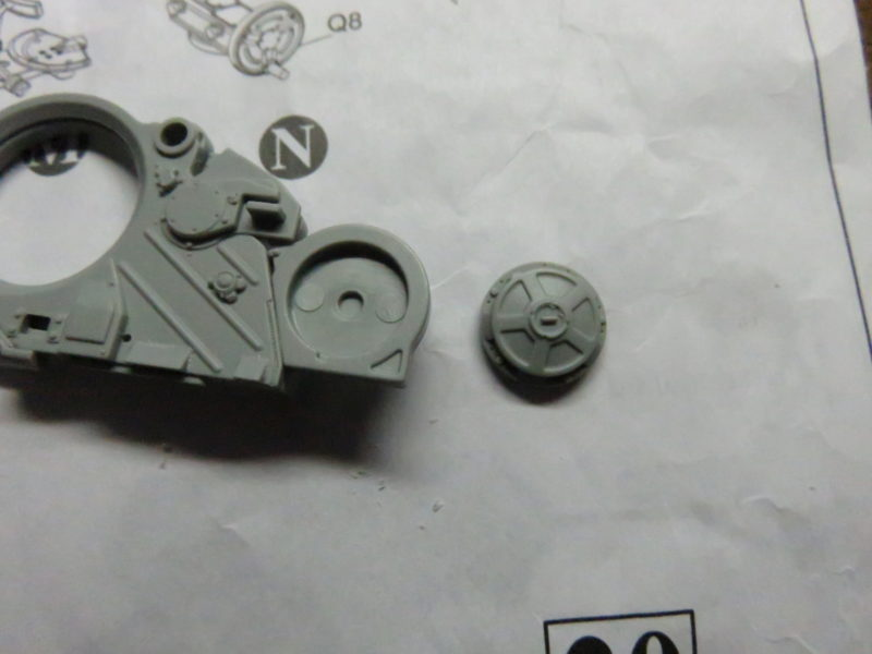 オストヴィント 砲座 組み立て5