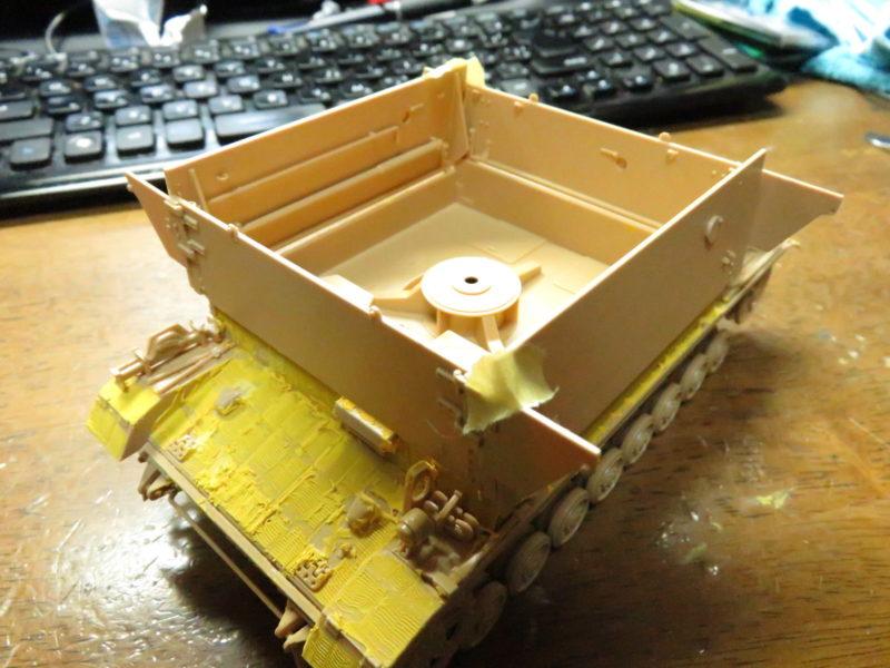 メーベルワーゲン 装甲板の取り付け4