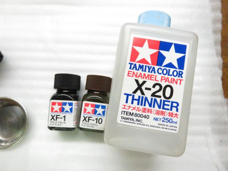エナメル塗料と溶剤