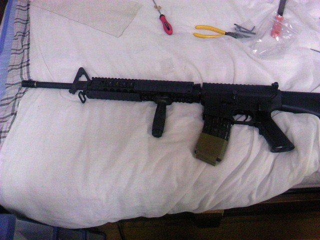 M5 RASを装着したM16A4 3