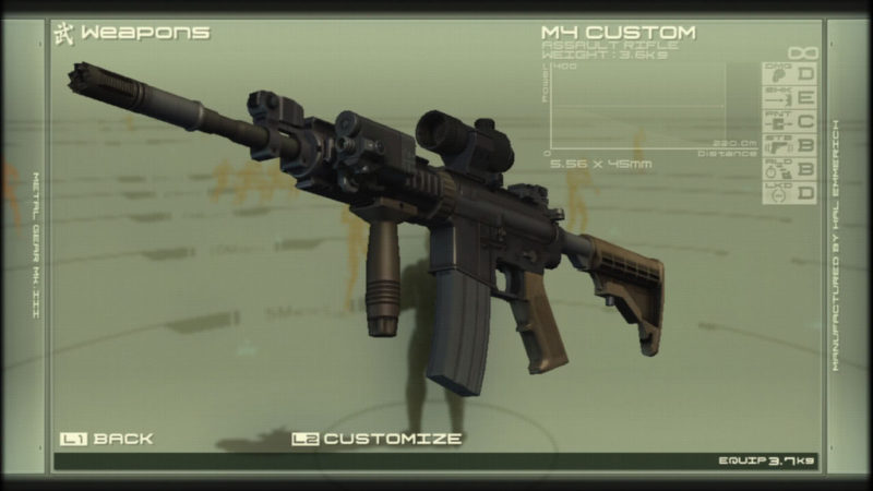 メタルギアソリッド4 「M4 カスタム」 via : BURSA-AIRSOFT.com
