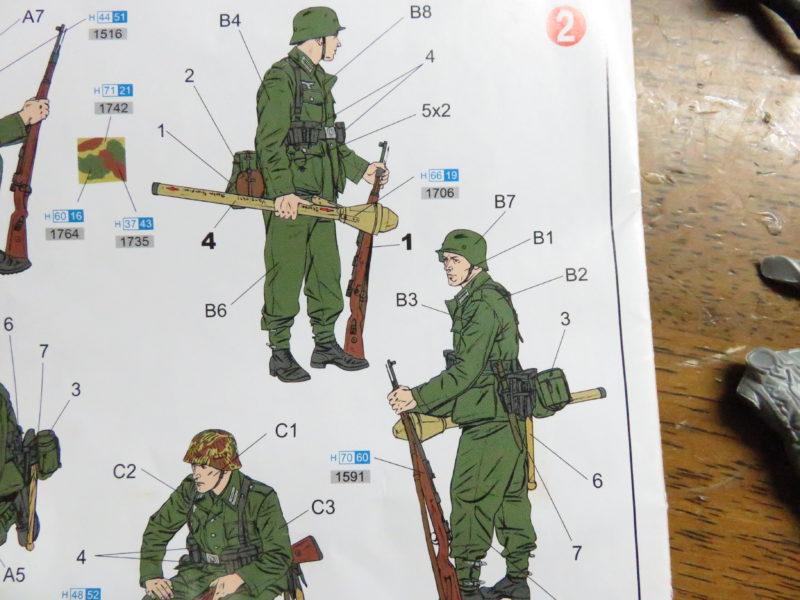 ケーリアン ドイツ兵 組み立て8