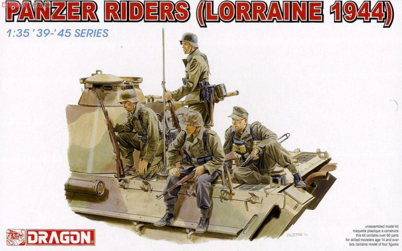 WW.II ドイツ軍 戦車跨乗兵セットロレーヌ 1944