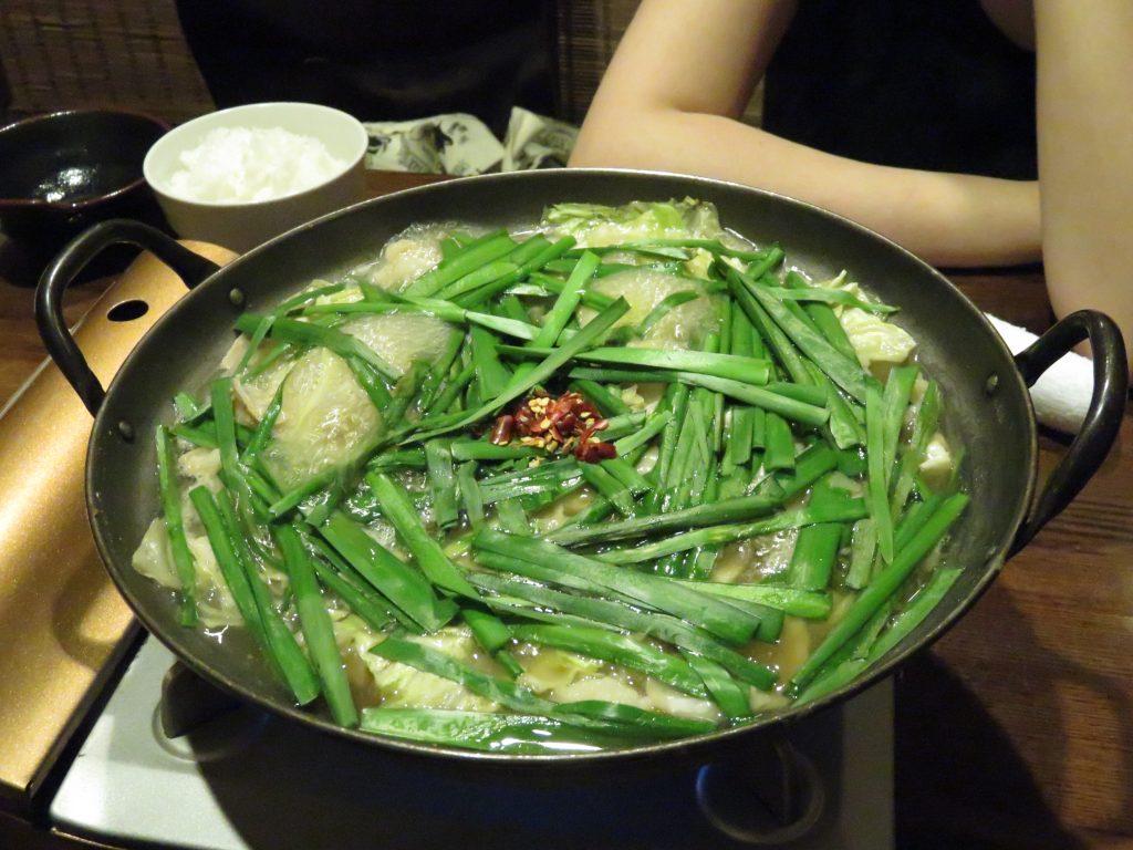 静岡2016-08-13 座・エビス 博多風モツ鍋