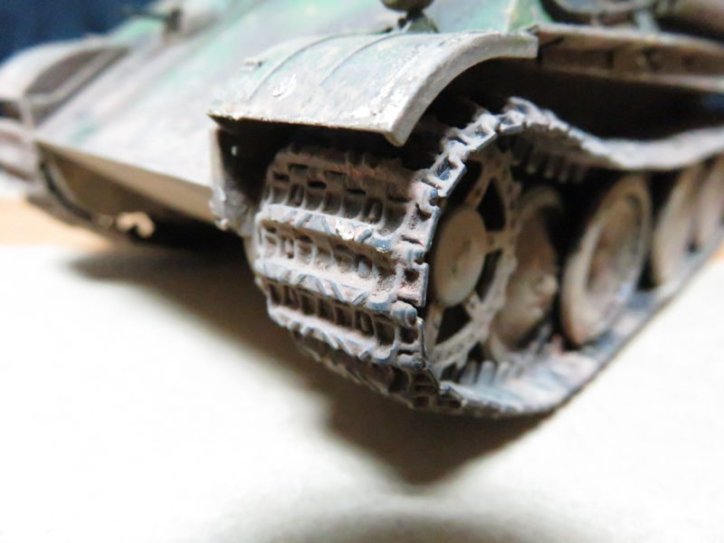 ケーリアン 履帯・転輪の泥汚れ再現4