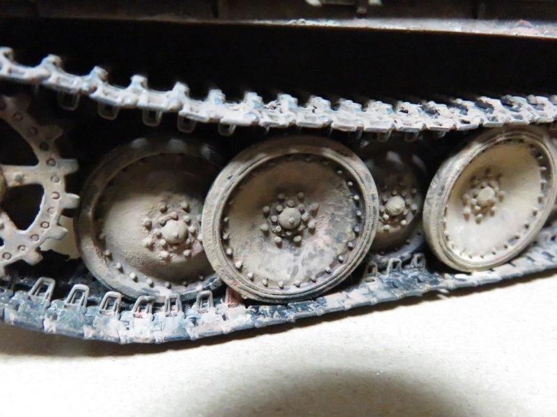 ケーリアン 履帯・転輪の泥汚れ再現5