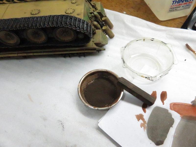 ケーリアン 履帯・転輪の泥汚れ再現