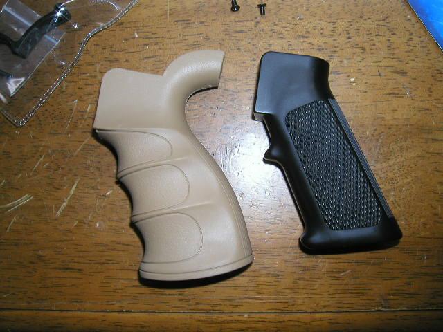 King Arms G27ピストルグリップとマルイ純正グリップの比較2