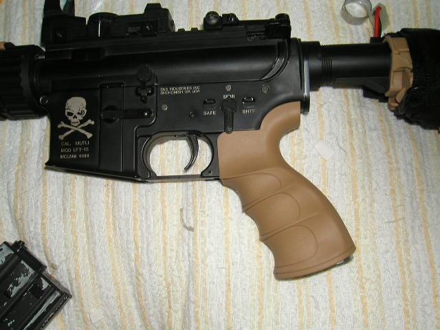 King Arms G27ピストルグリップ 装着例