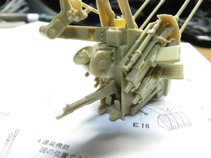 メーベルワーゲン試作型 Flakvierling38 射手席の組み立て