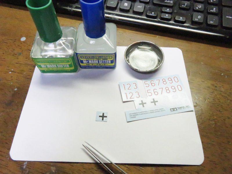 メーベルワーゲン(試作型) デカール貼りで使ったもの