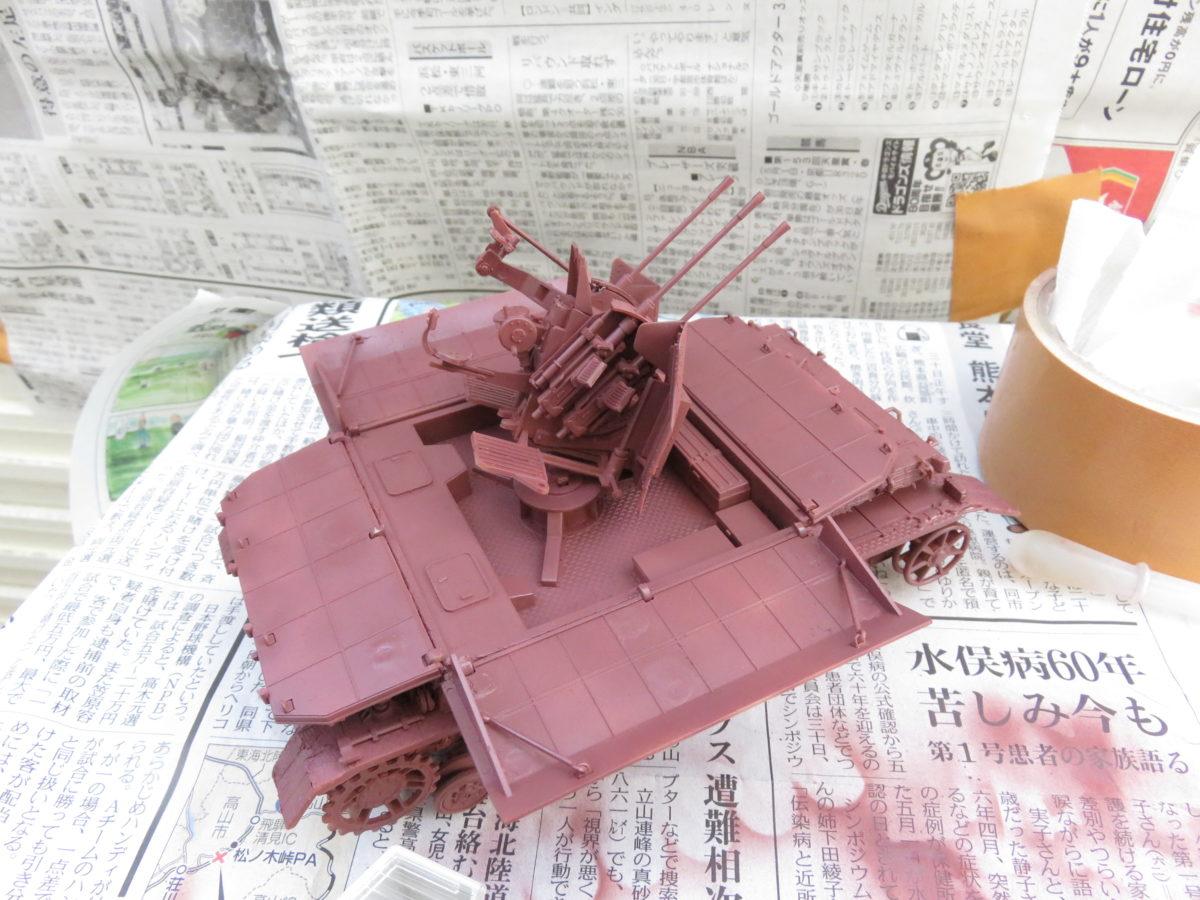 メーベルワーゲン試作型 サーフェイサー塗装2