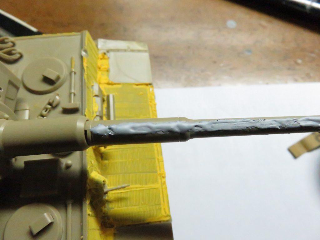 ティーガーI後期型 砲身の整形5