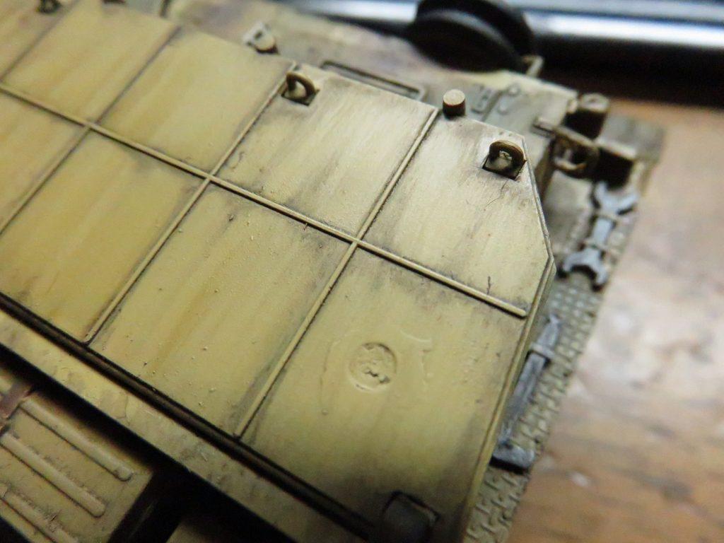 メーベルワーゲン試作型 ウォッシング 塗料の拭き取り2
