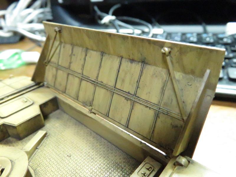 メーベルワーゲン試作型 ウォッシング後の装甲板