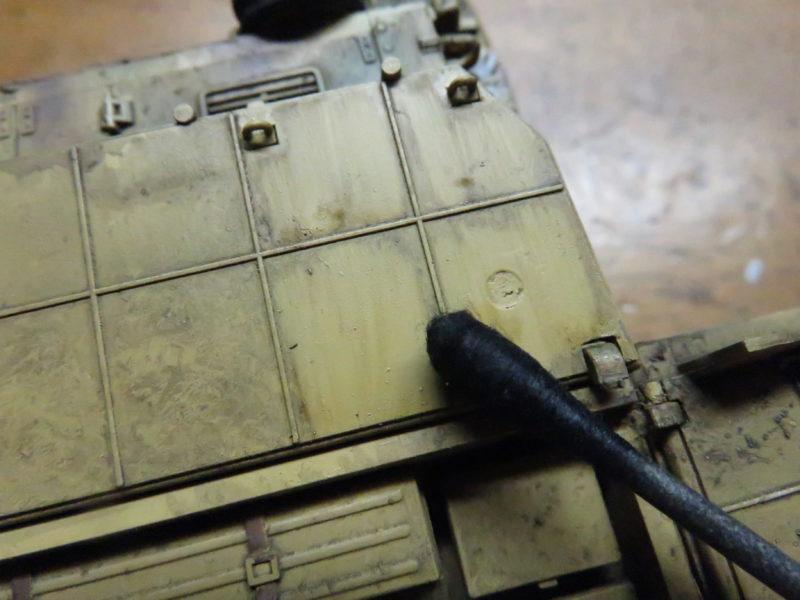 メーベルワーゲン試作型 ウォッシング 塗料の拭き取り