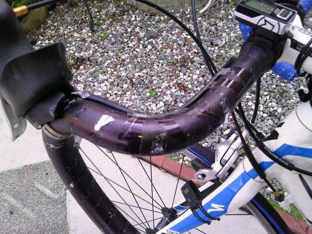 ロードバイク バーテープの交換3