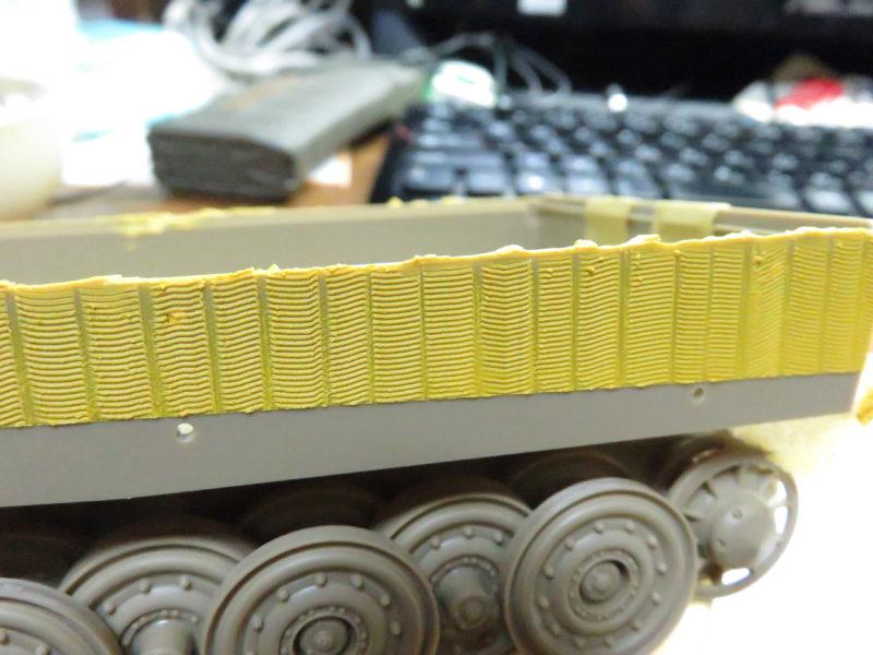 ティーガーI 側面装甲 ツィンメリットコーティング6