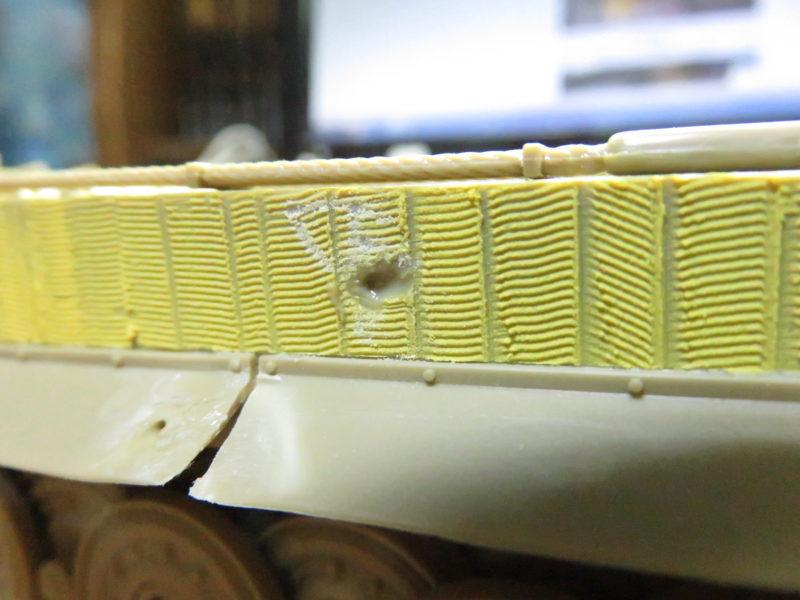 ティガーI後期型 装甲板のバトルダメージ3