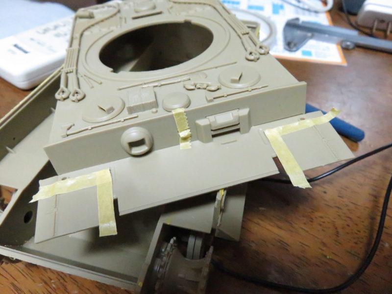 ティーガーI後期型 前面装甲板のツィンメリットコーティング