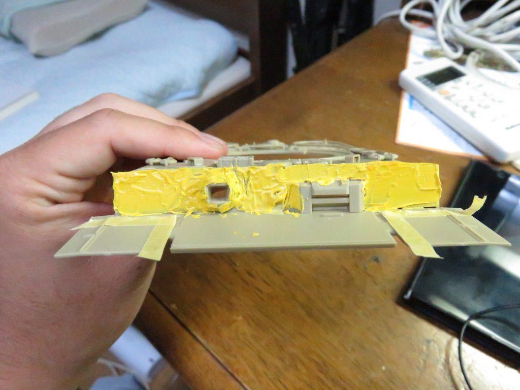 ティーガーI後期型 前面装甲板のツィンメリットコーティング2