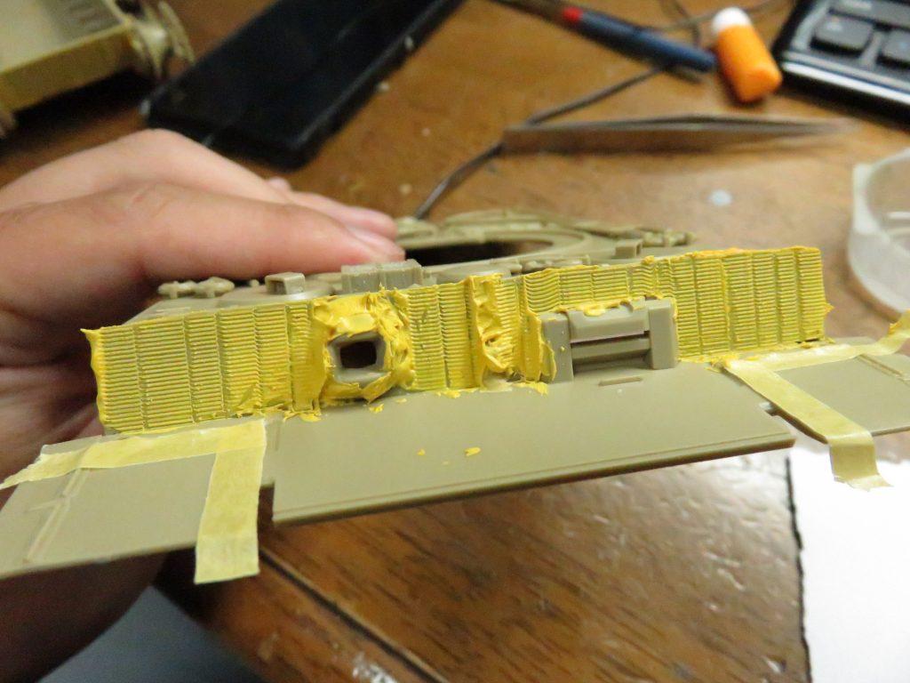 ティーガーI後期型 前面装甲板のツィンメリットコーティング3