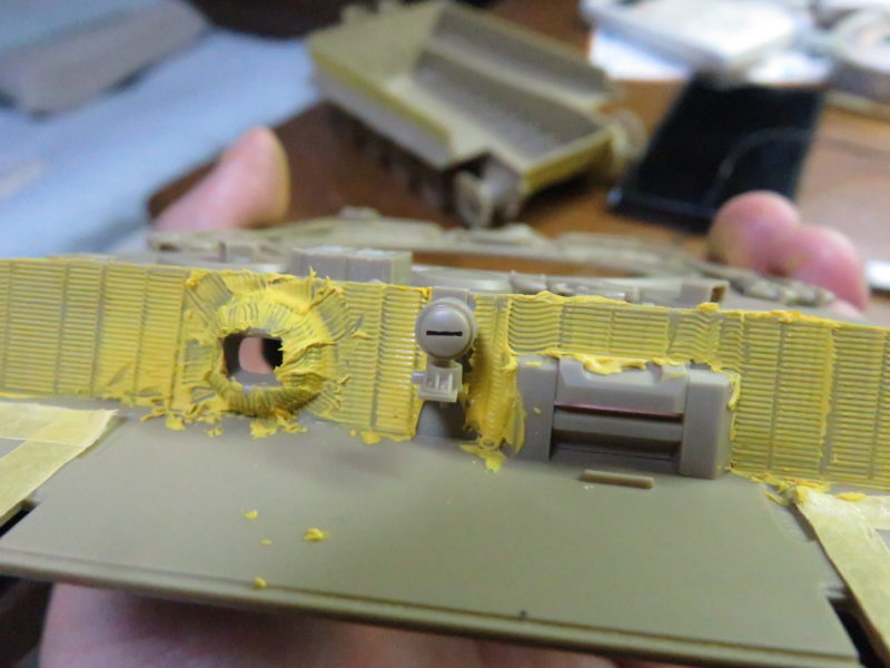 ティーガーI後期型 前面装甲板のツィンメリットコーティング6