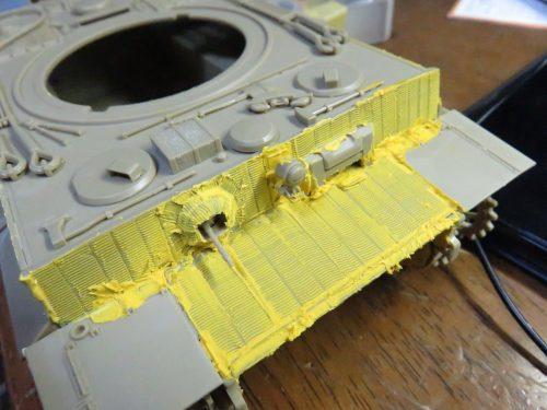 ティーガーI後期型 前面装甲板のツィンメリットコーティング7