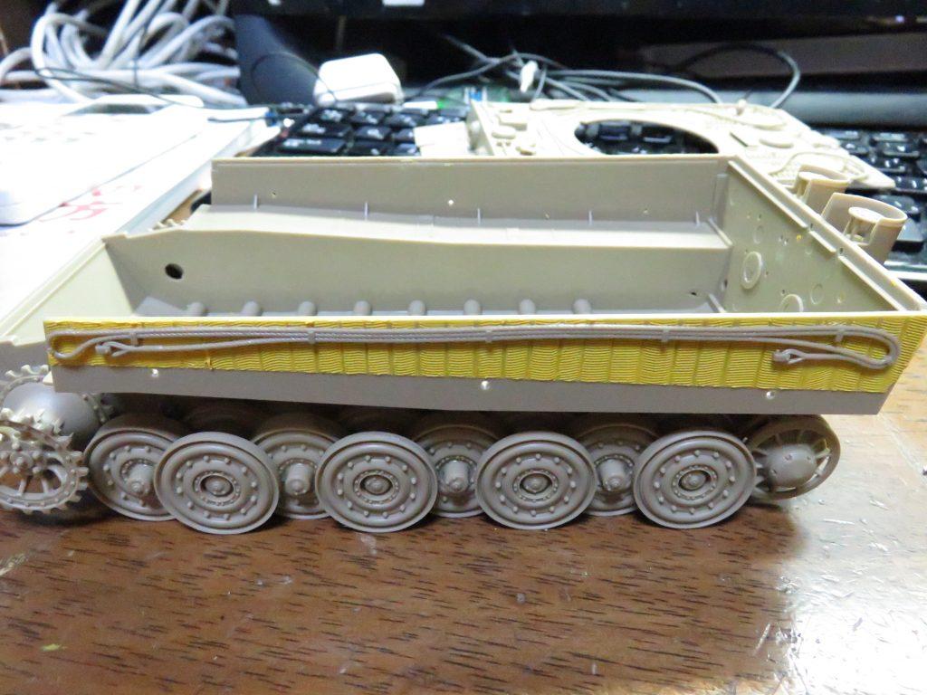 ティーガーI後期型 履帯交換用ワイヤー