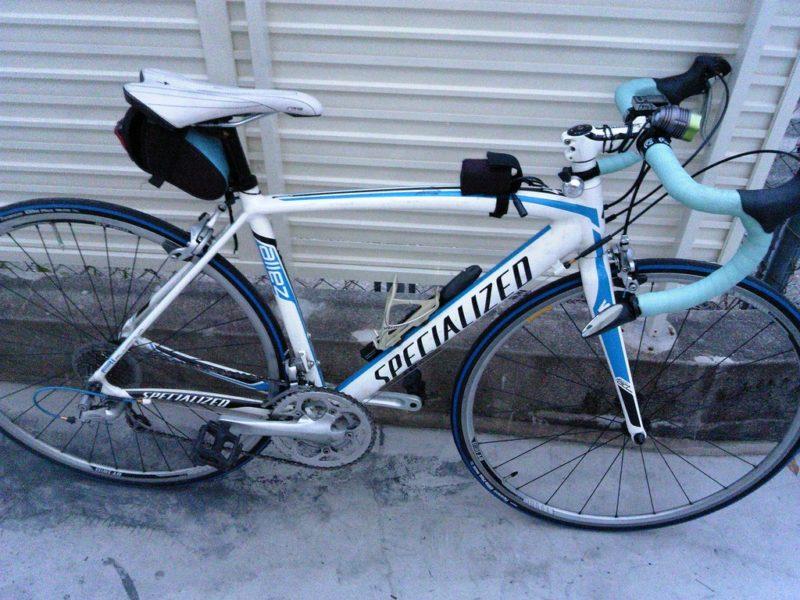 BB BORO 装着後のロードバイク