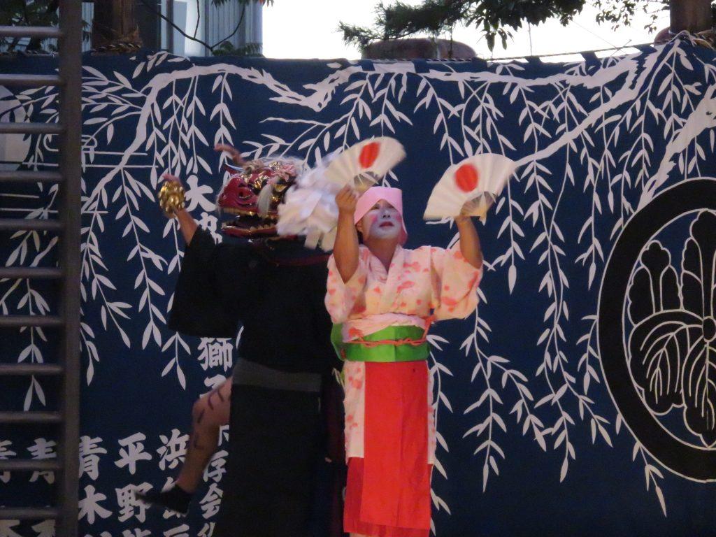 大脇神明社 『大脇梯子獅子』8