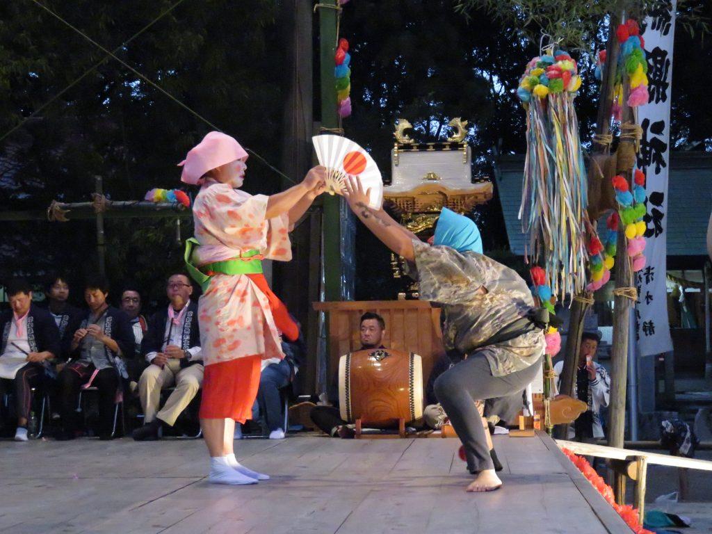 大脇神明社 『大脇梯子獅子』10