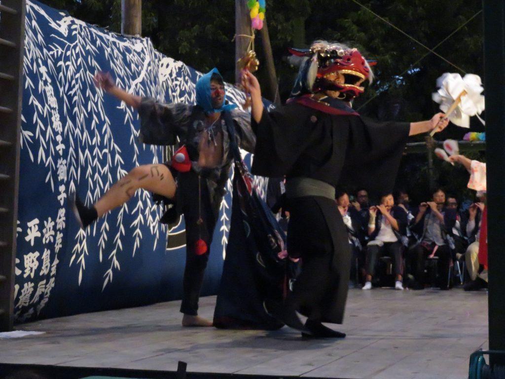 大脇神明社 『大脇梯子獅子』11