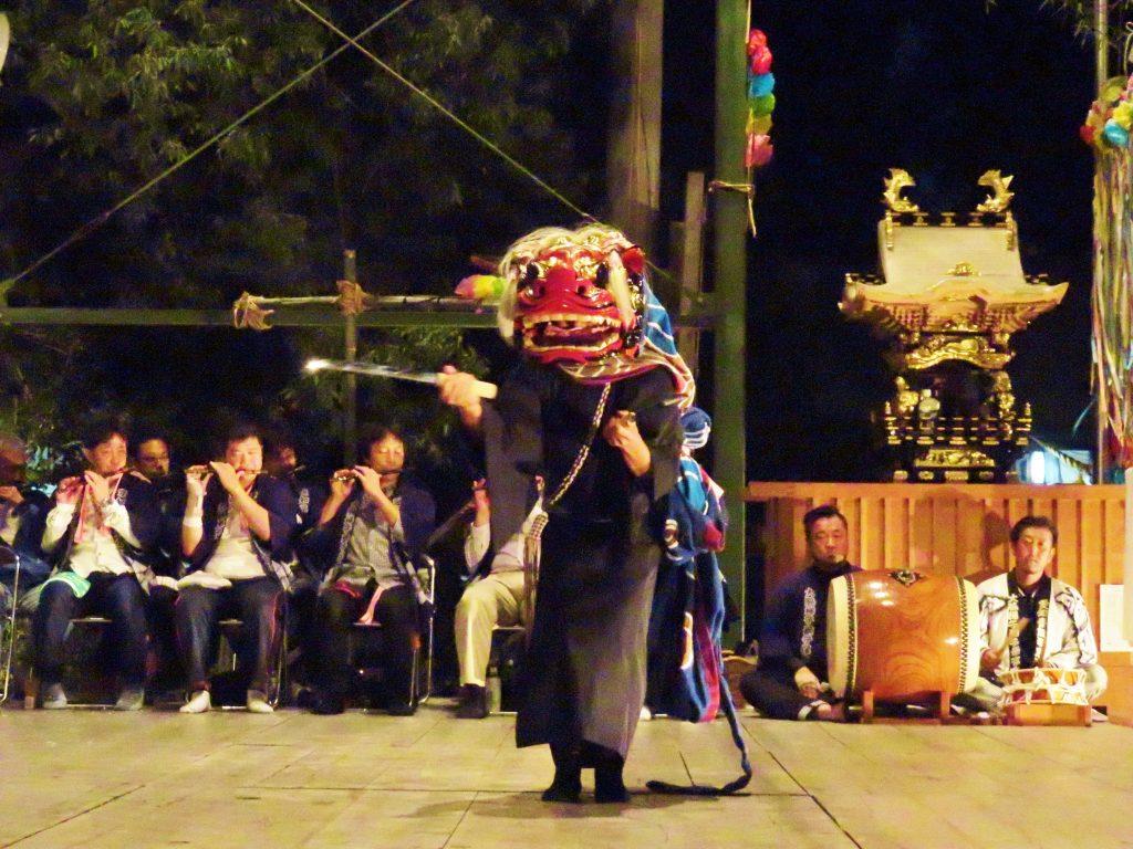大脇神明社 『大脇梯子獅子』17