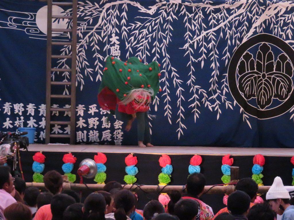 大脇神明社 『大脇梯子獅子』6