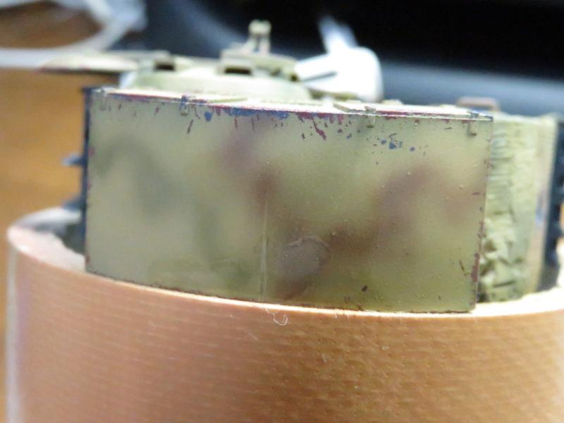 ティーガーI デカール貼り 砲塔後部のデカール
